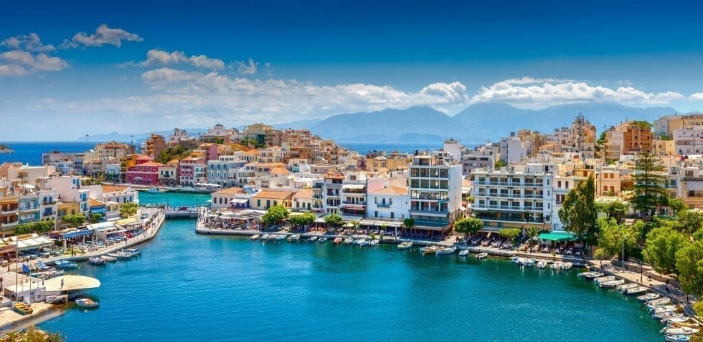 Agios Nikolaos in Crete as seen from above