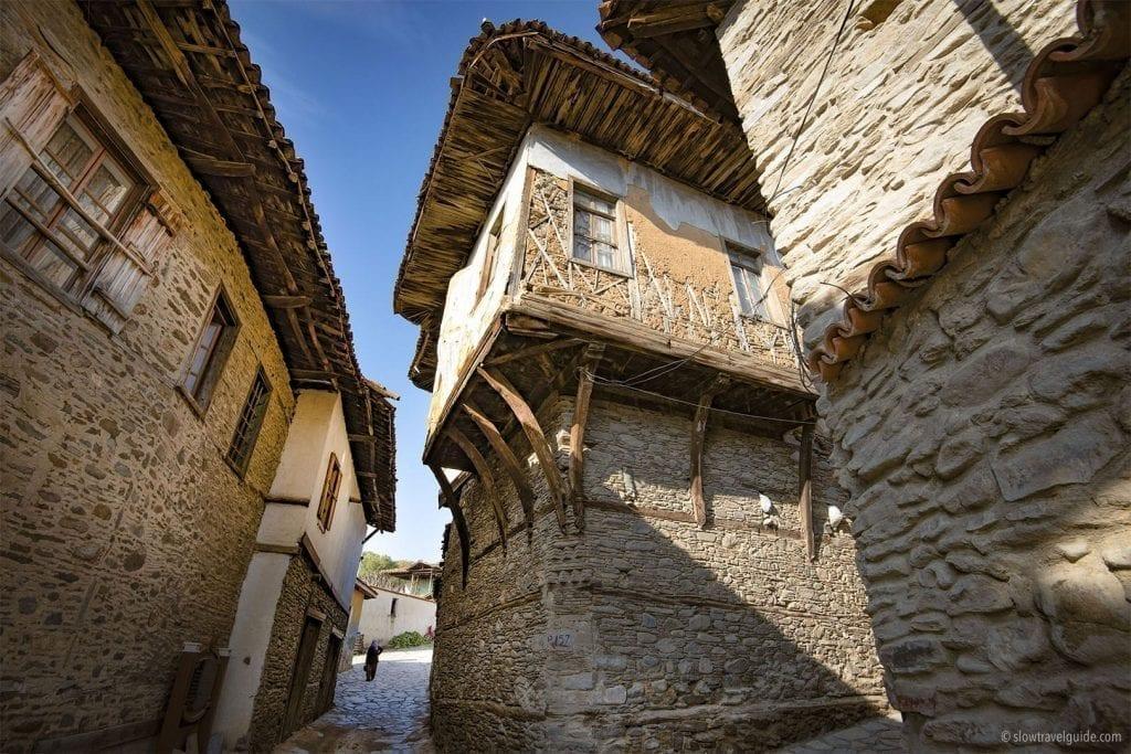 Ottoman style houses in Birgi Turkey