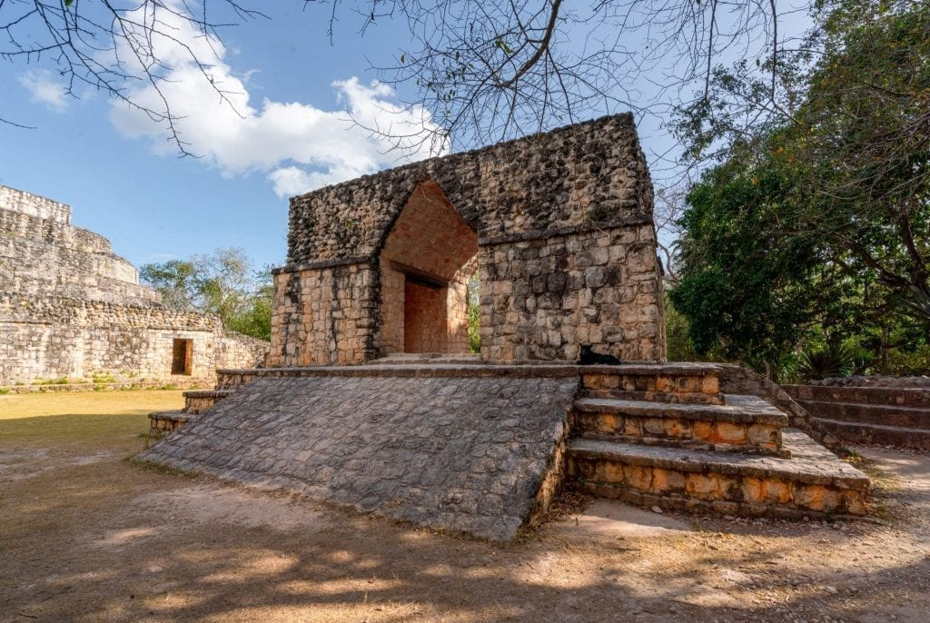 Small structure as seen visiting visiting ek balam ruins near valladolid mexico