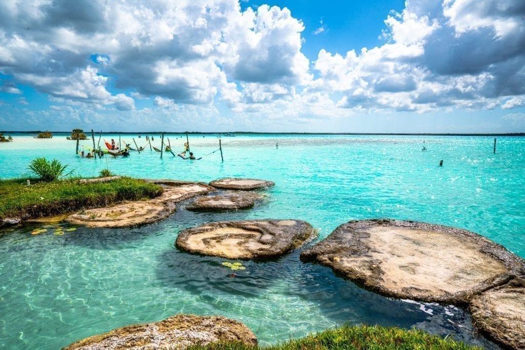 view of cocolitos bacalar yucatan travel mexico