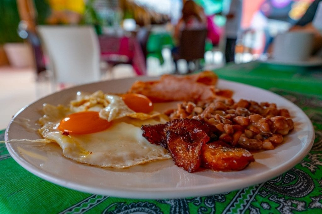 Desayuno tipico as seen in Valladolid Mexico--one of our favorite travel tips for Mexico is that the breakfasts are among the best in the world