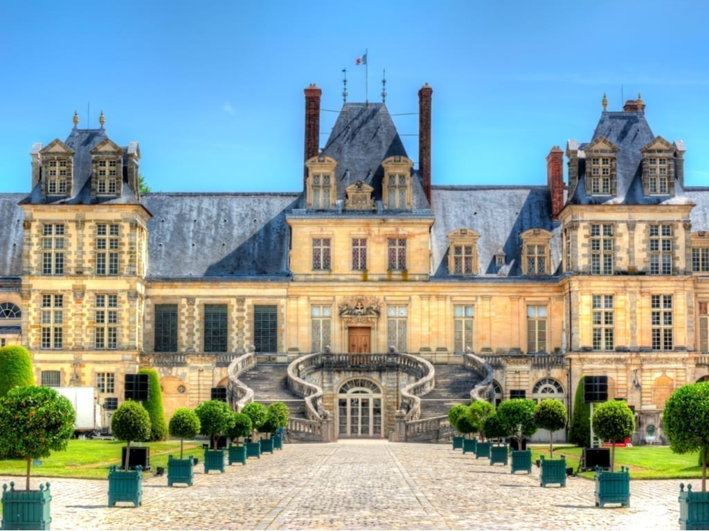 Chateau de Fontainbleau in the Loire Valley of France