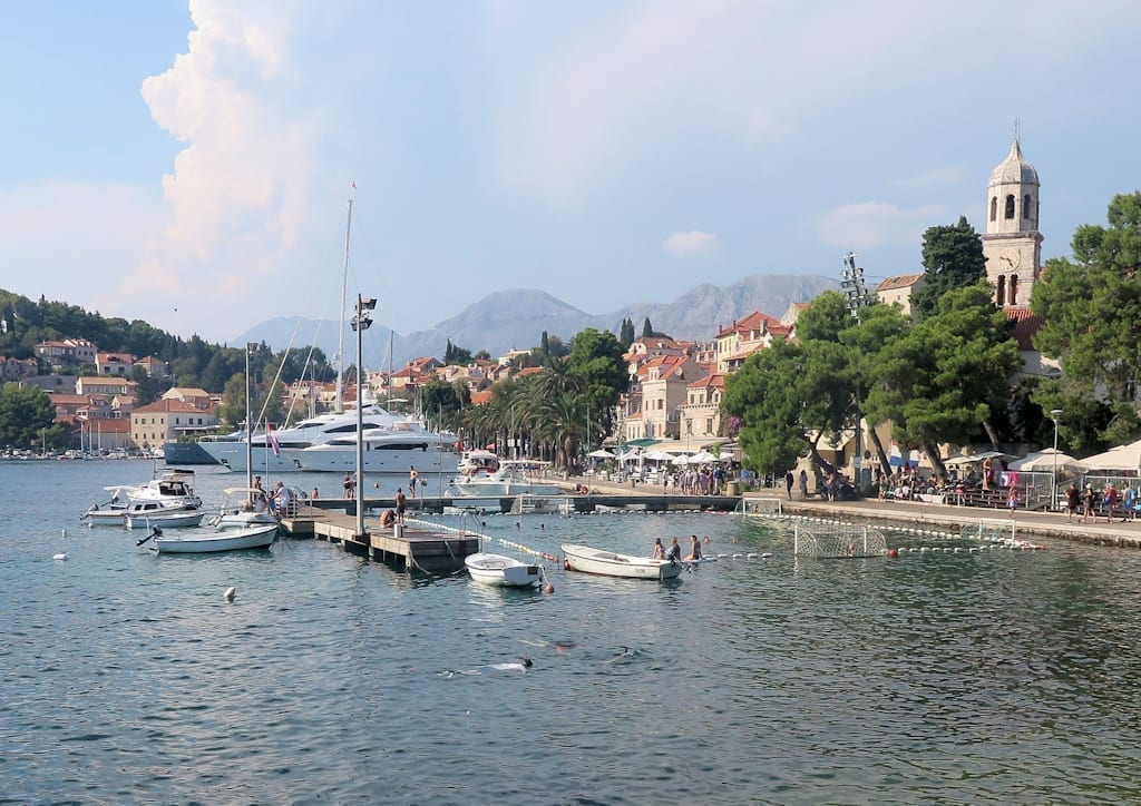 Harbor of Cavtat Croatia, a beautiful nontouristy place to visit in Europe