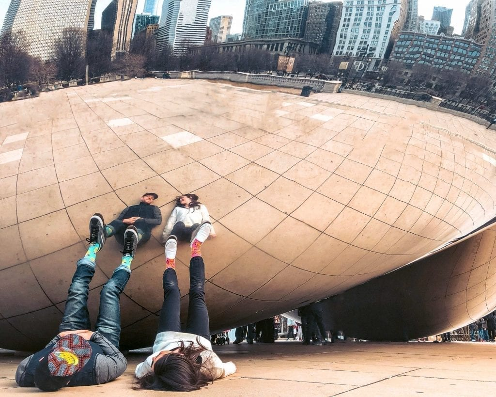 Zach and Julie Ruhl at The Bean in Chicago
