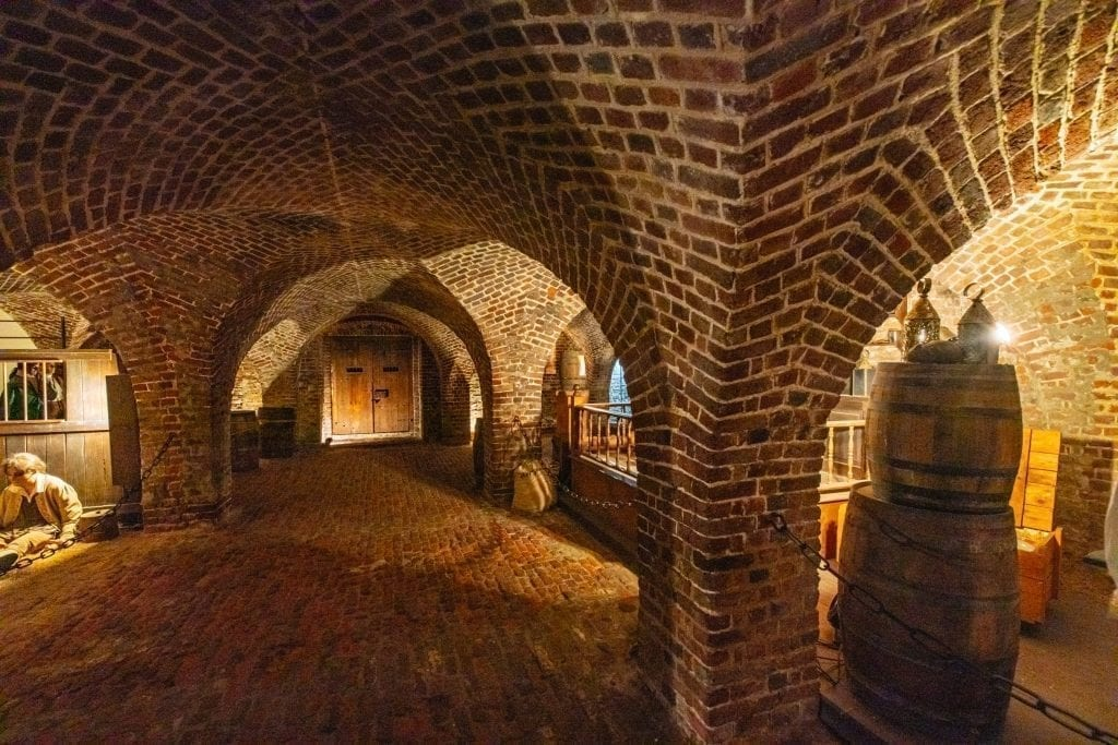 Old Exchange Dungeon, an interesting part of a 3 day Charleston Itinerary
