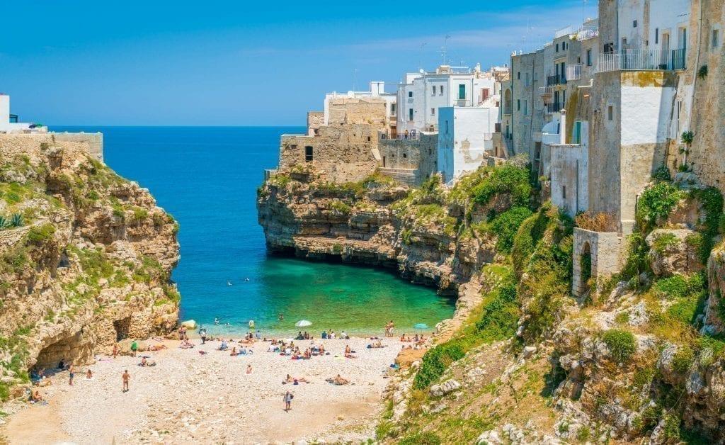 Polignano al Mare Beach in Puglia Italy