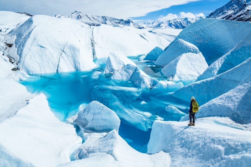 Matanuska Glacier near Valdez Alaska. Alaska is home to some of the best road trips in USA