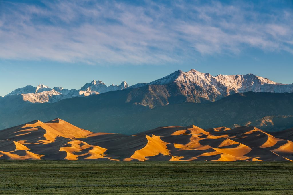 great sand dunes national park colorado as seen from a distance