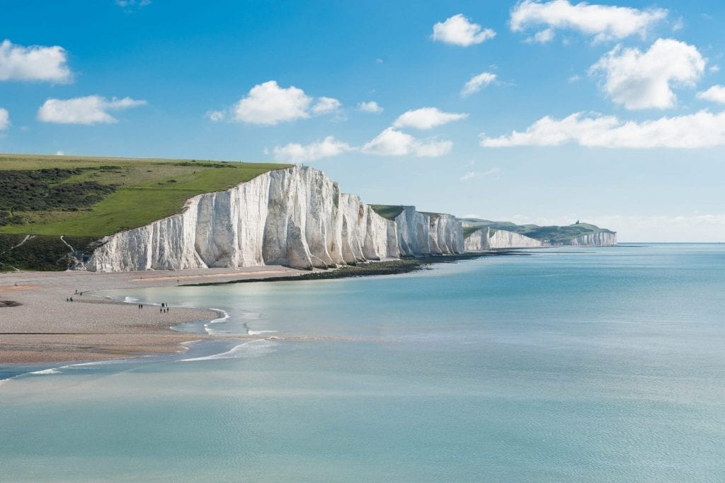White Cliffs of Dover in southern England, one of the best summer destinations in Europe