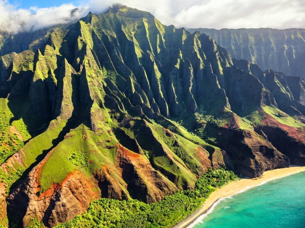 Na Pali Coast of Kauai Hawaii. Kauai is one of the best road trips in USA.