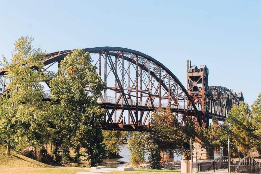 Clinton Presidential Park Bridge in Little Rock Arkansas