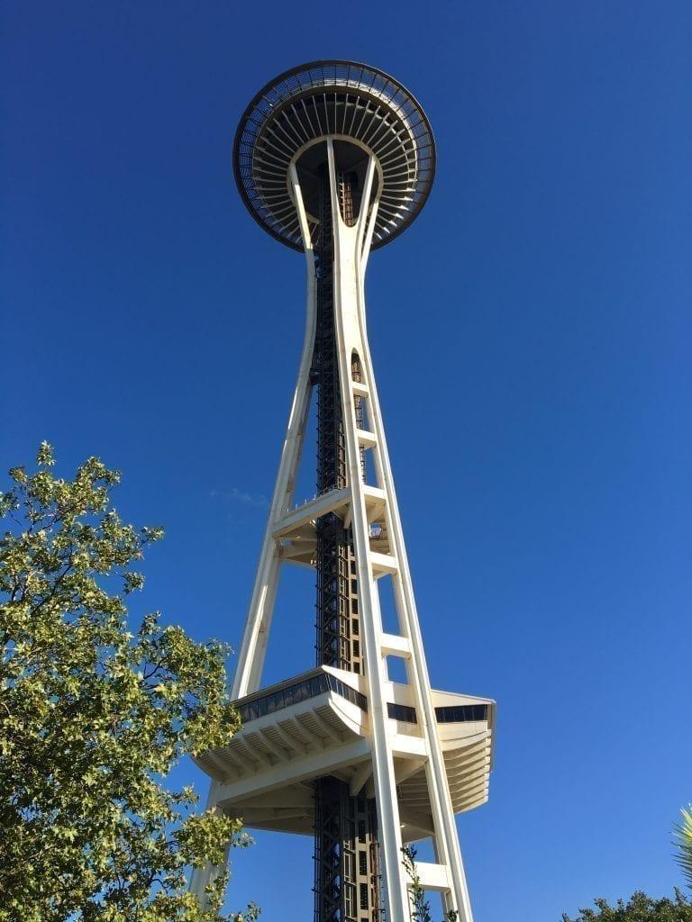 Seattle Space Needle as seen from below