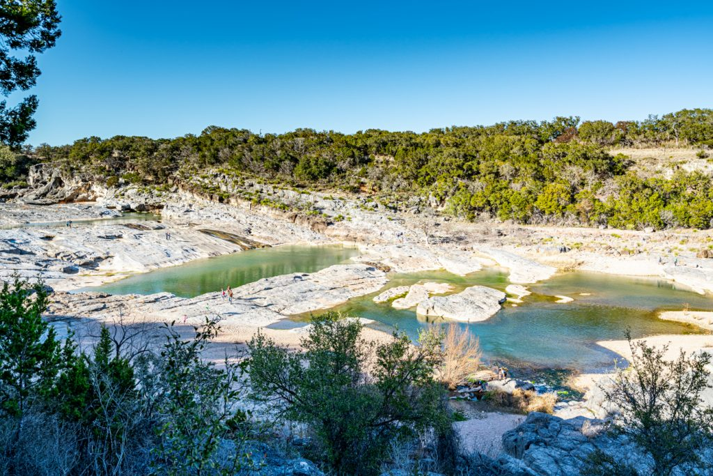 pedernales falls texas as seen from above