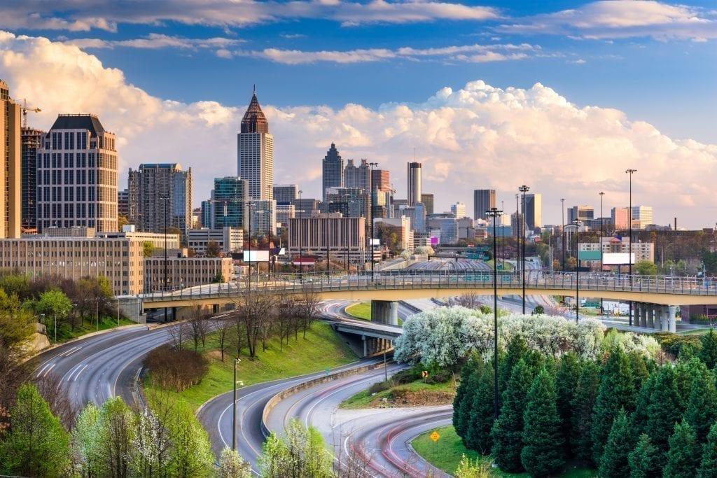 Atlanta Georgia skyline--Atlanta is one of the best weekend getaways in the south