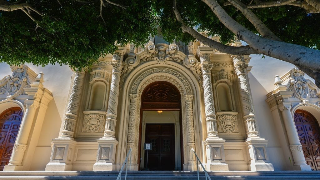 Exterior of ornate church in Mission District San Francisco itinerary
