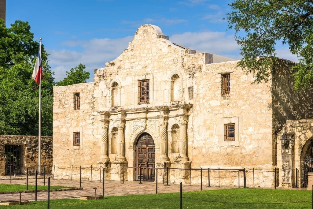 Front facade of the Alamo in San Antonio Texas, and the subject of many quotes about Texas!