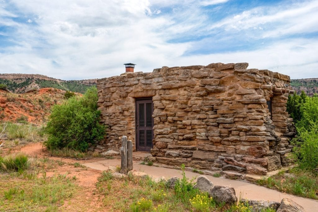 Small cabin available for rent in Palo Duro Canyon Texas
