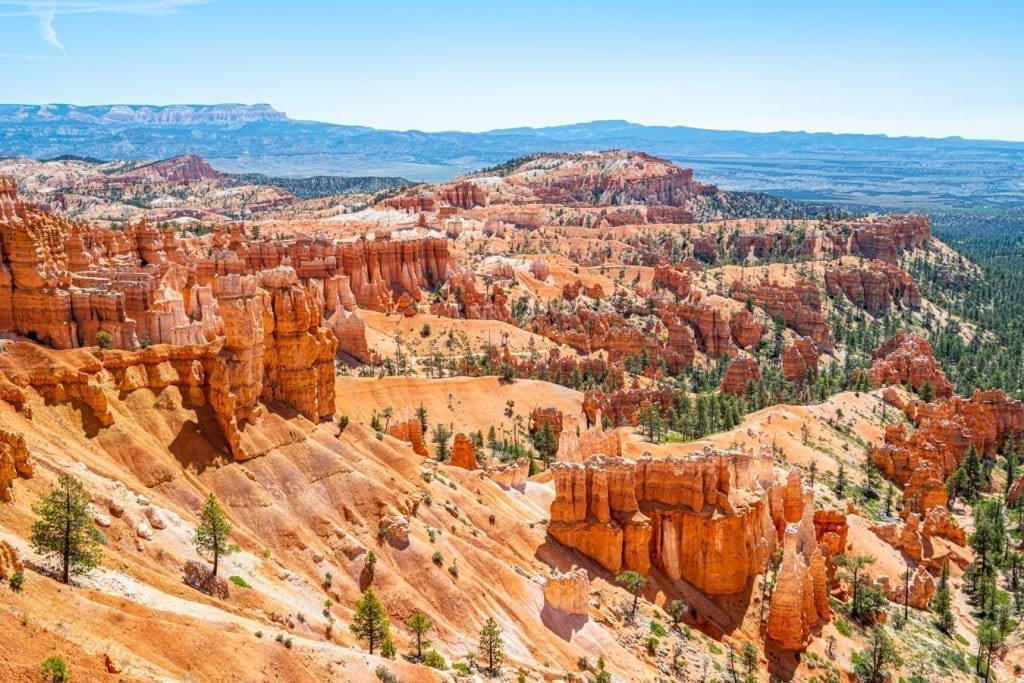 View from Sunrise Point, which is one of the best places to visit in Bryce Canyon Utah