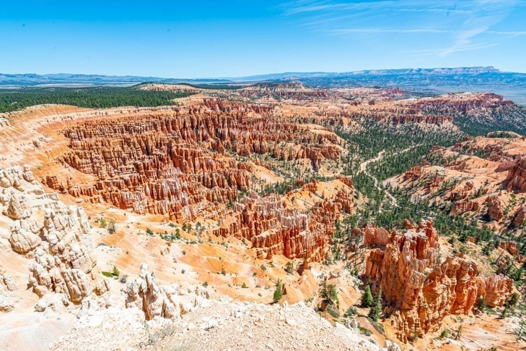 View of Inspiration Point, which definitely belongs on any list of what to do in Bryce Canyon NP