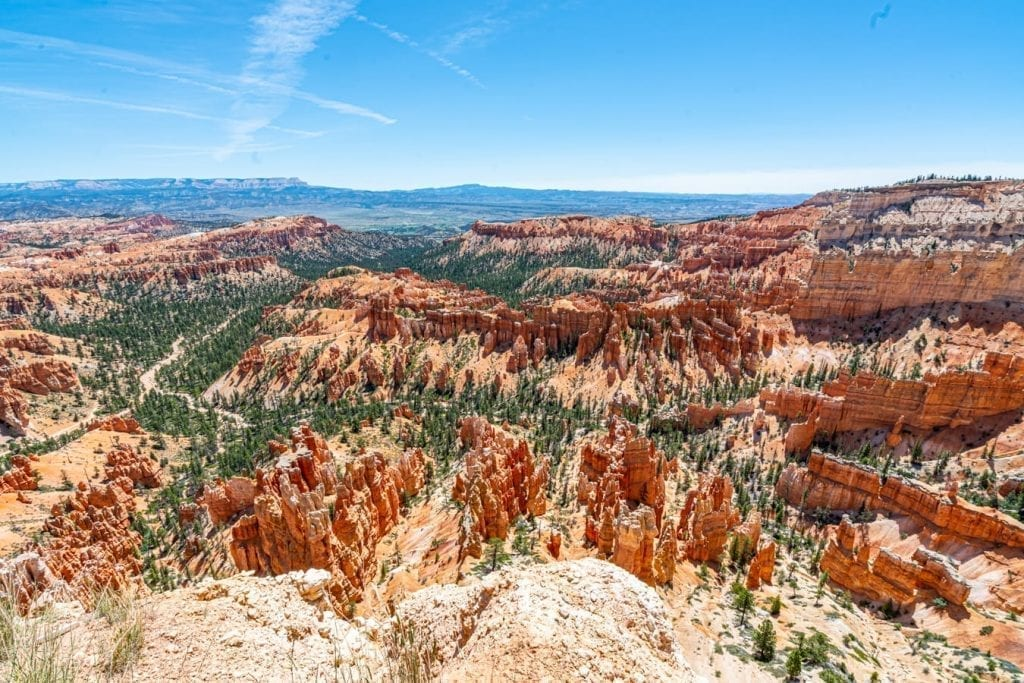Inspiration Point at Bryce Canyon National Park on a sunny day