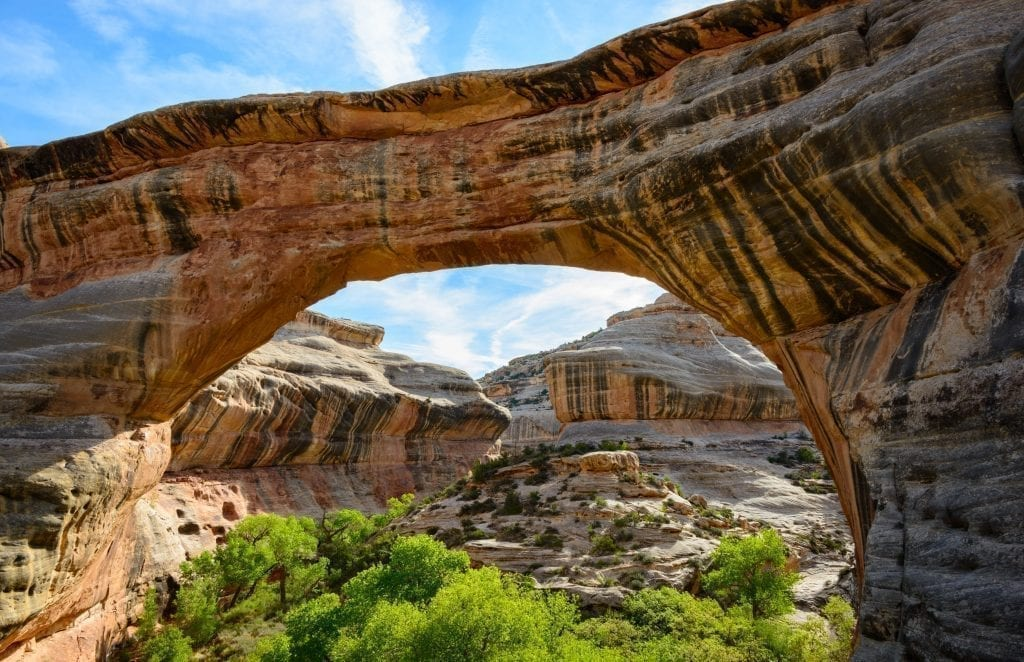Sipapu Bridge in Natural Bridges National Monument, one of the best places to go in Utah