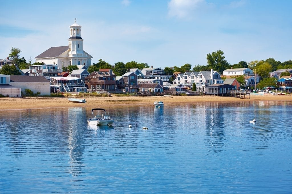 Provincetown Massachusetts on Cape Cod as seen from the water