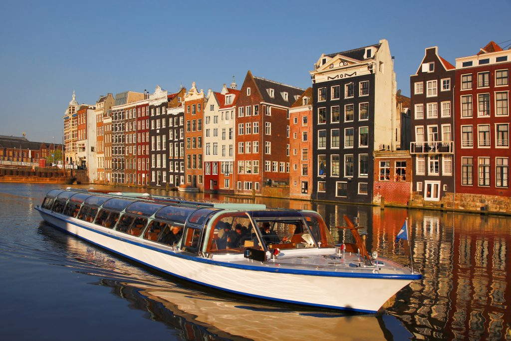 covered amsterdam canal boat