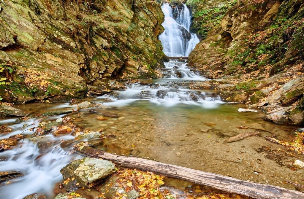 Cascade Falls near North Adams MA, one of the best boston weekend getaway ideas