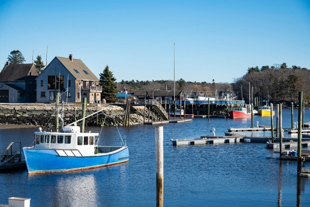 Harbor of Kennebunkport Maine, one of the best weekend getaways from Boston