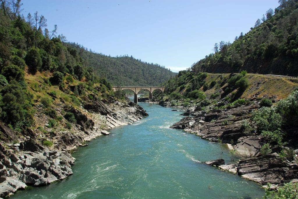 American River in California gold country near auburn ca