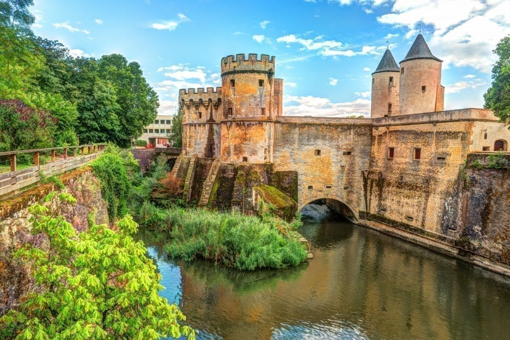 13th century medieval gate in metz france