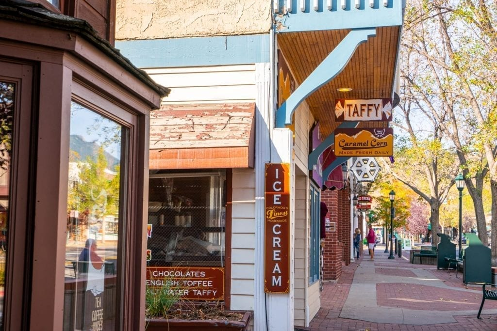 colorful shops are one of the best estes park attractions downtown