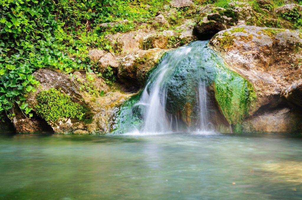 small waterfall in hot springs national park arkansas