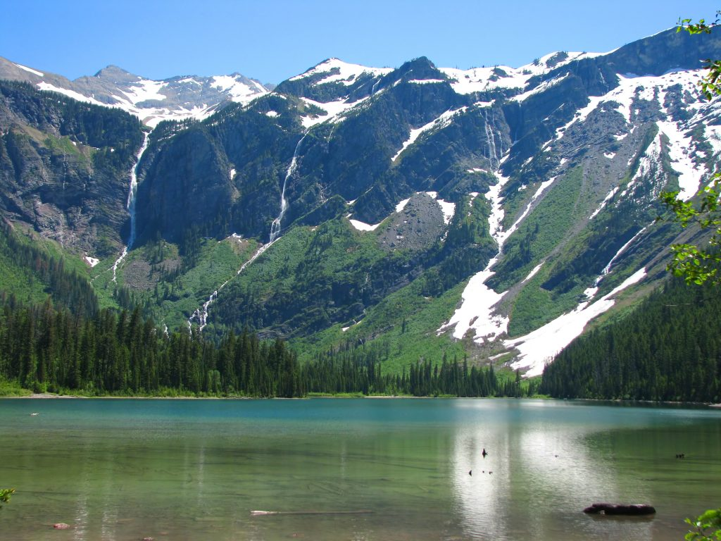 avalanche lake in glacier np, one of the best hikes near whitefish montana