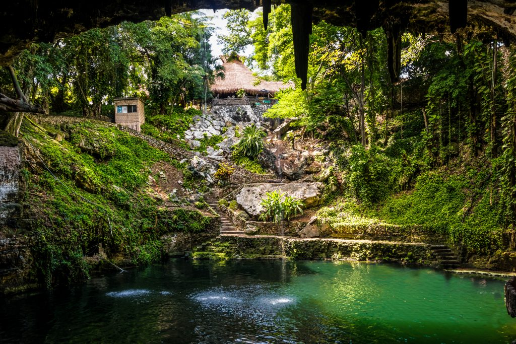 cenote zaci, one of the best places to visit in valladolid mexico