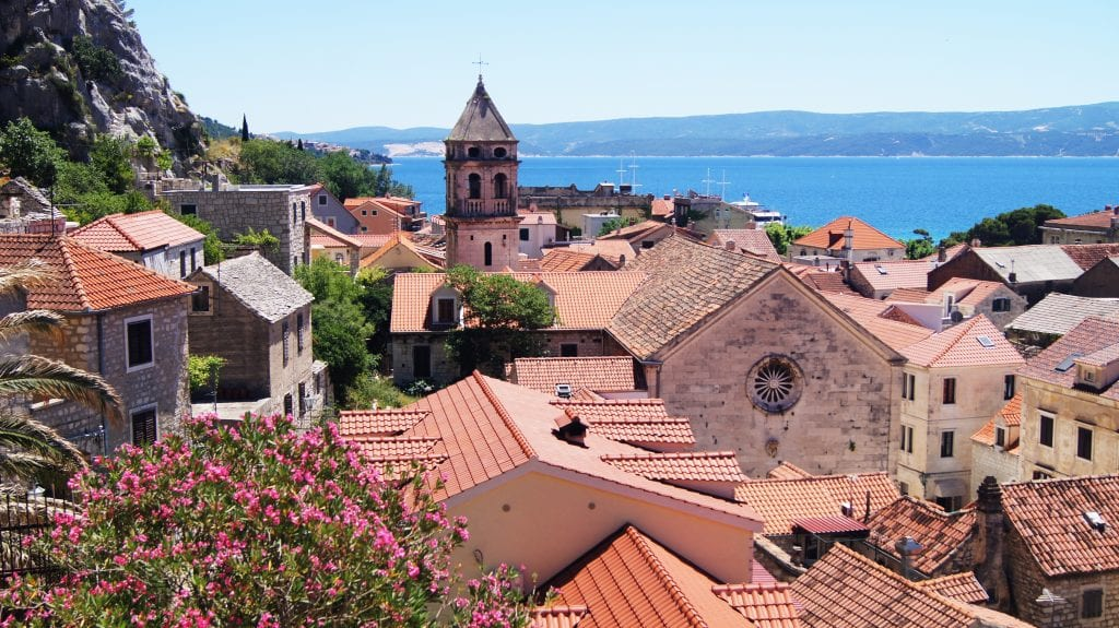 terracotta rooftops of omis, one of the prettiest places in croatia to visit