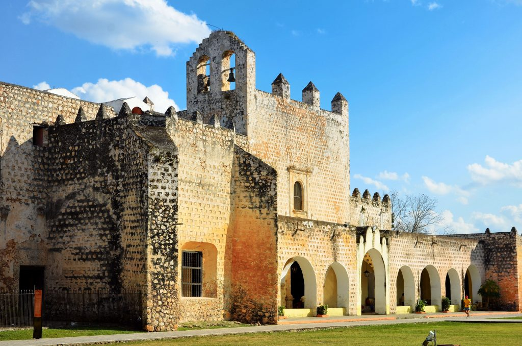 exterior of Convent of San Bernardino de Siena, valladolid mexico things to do in
