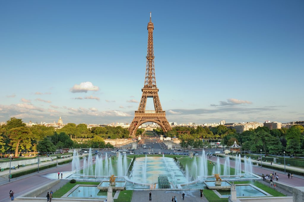 eiffel tower as seen from trocadero gardens, a europe bucket list destination