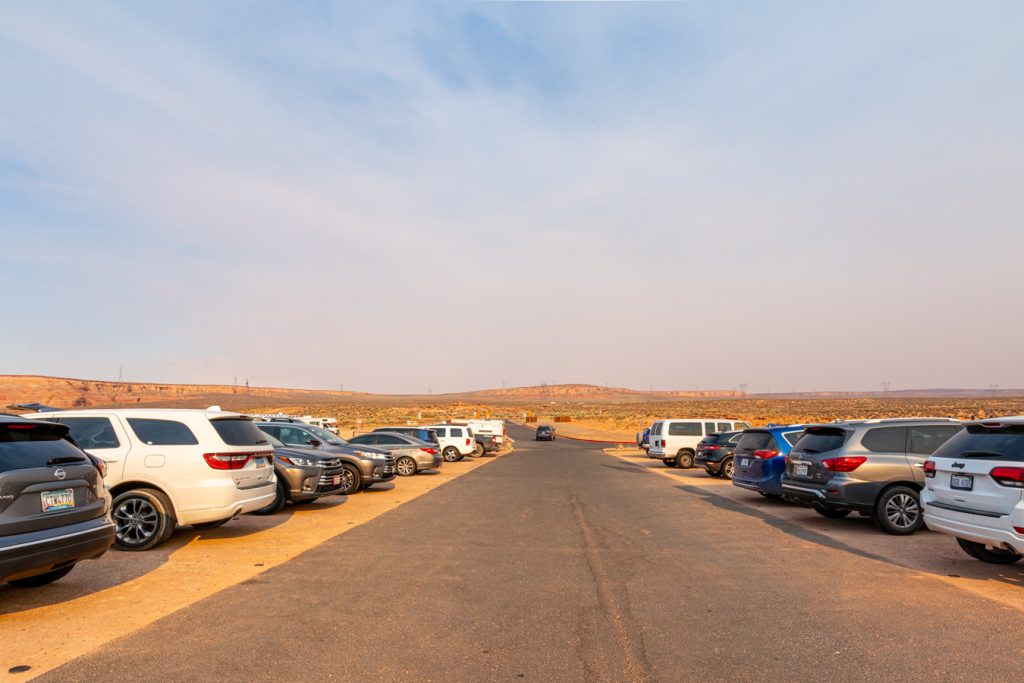 paved parking lot in page az