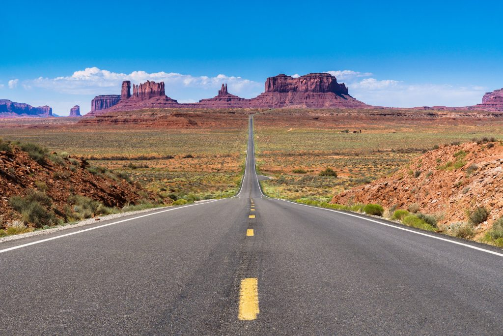 famous road leading to monument valley, one of the best places to go in arizona bucket list destination