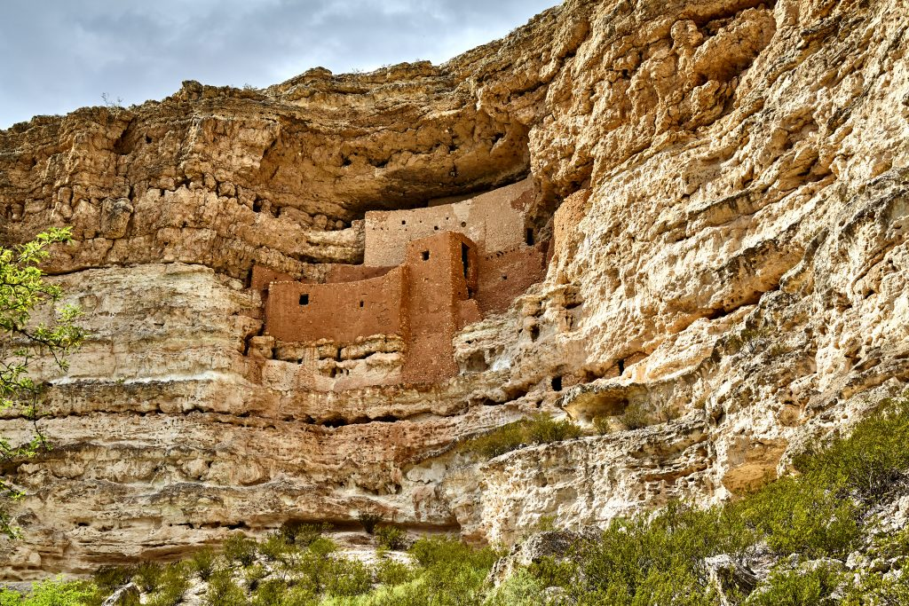 montezuma castle set into the rock wall, one of the best hidden gems in arizona to visit