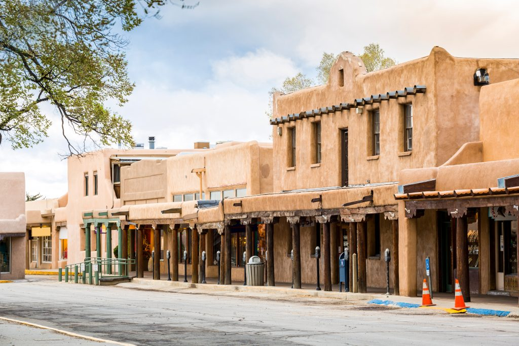 adobe buildings in downtown taos new mexico