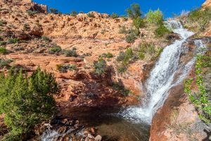 faux falls, one of the best things to do in moab utah