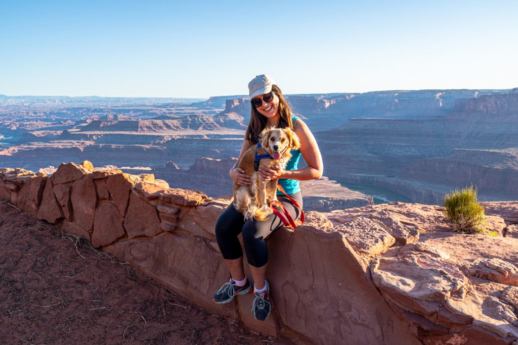 kate storm holding ranger storm at dead horse point state park