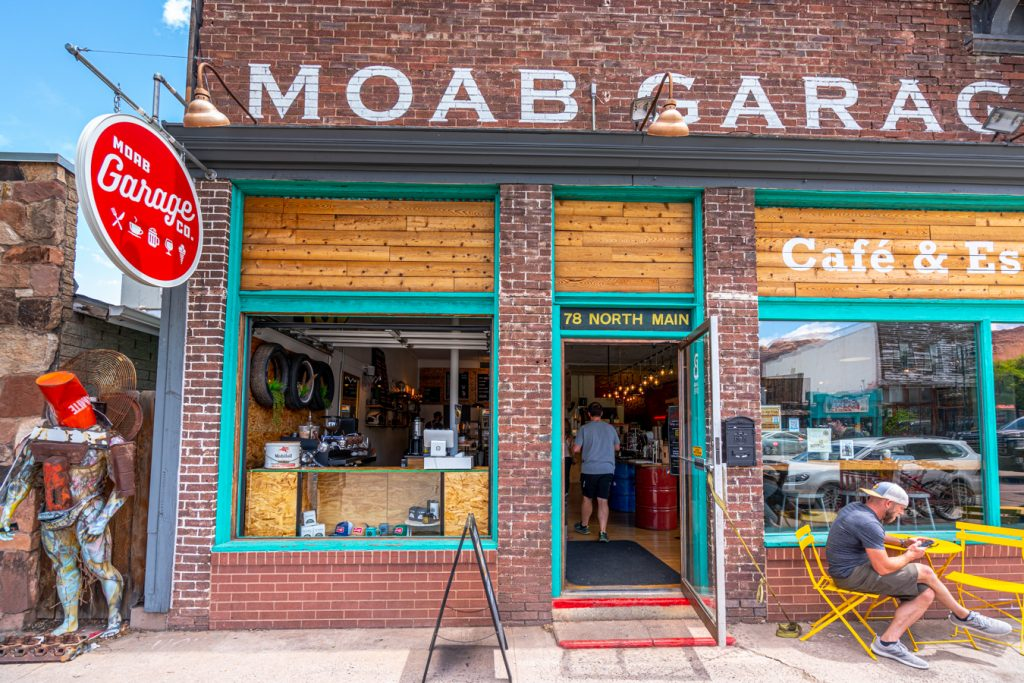 front facade of moab garage co