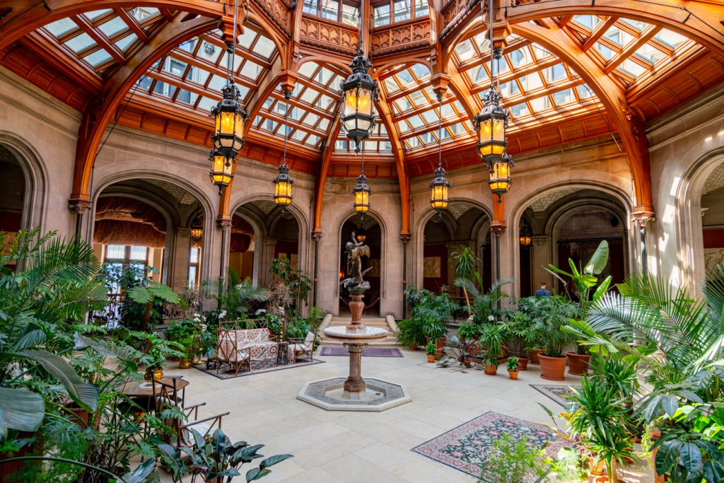 entry way to biltmore house, one of the best things to do at biltmore estate asheville nc