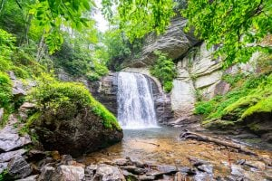 looking glass falls, a fun stop during a 3 day weekend in asheville itinerary