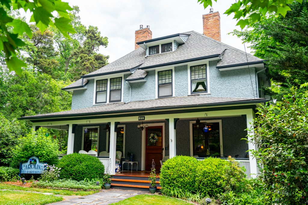 pale blue asheville bed and breakfast in montford historic district