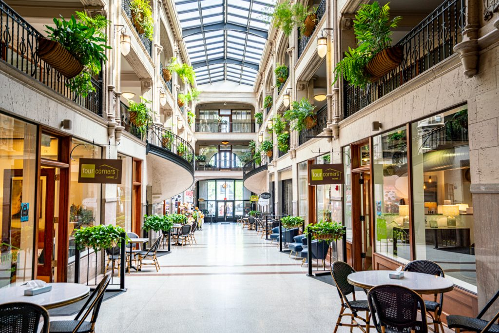 interior of grove arcade, one of the best things to do in asheville in 3 days