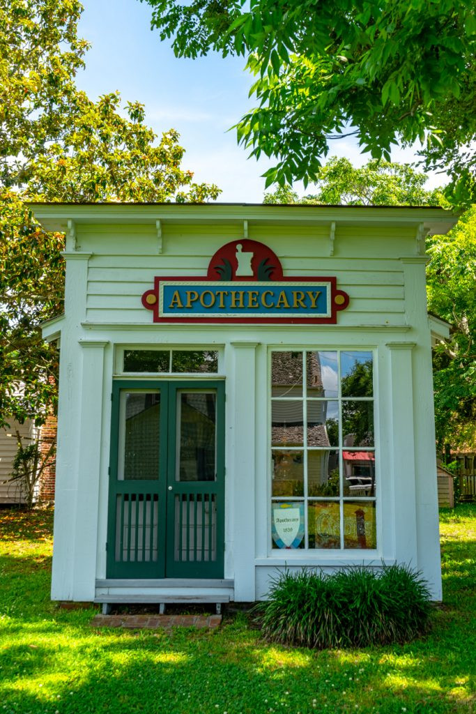 front facade of apothecary at beaufort historic site